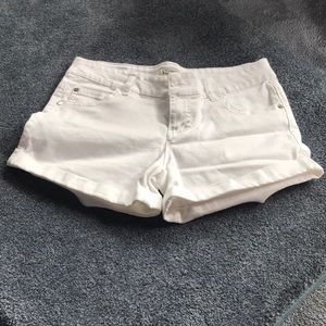 White shorts from Celebrity Pink.